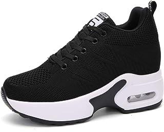 AONEGOLD Sneakers con Zeppa Donna Scarpe da Ginnastica Sportive Fitness Casual Platform Alta 7cm