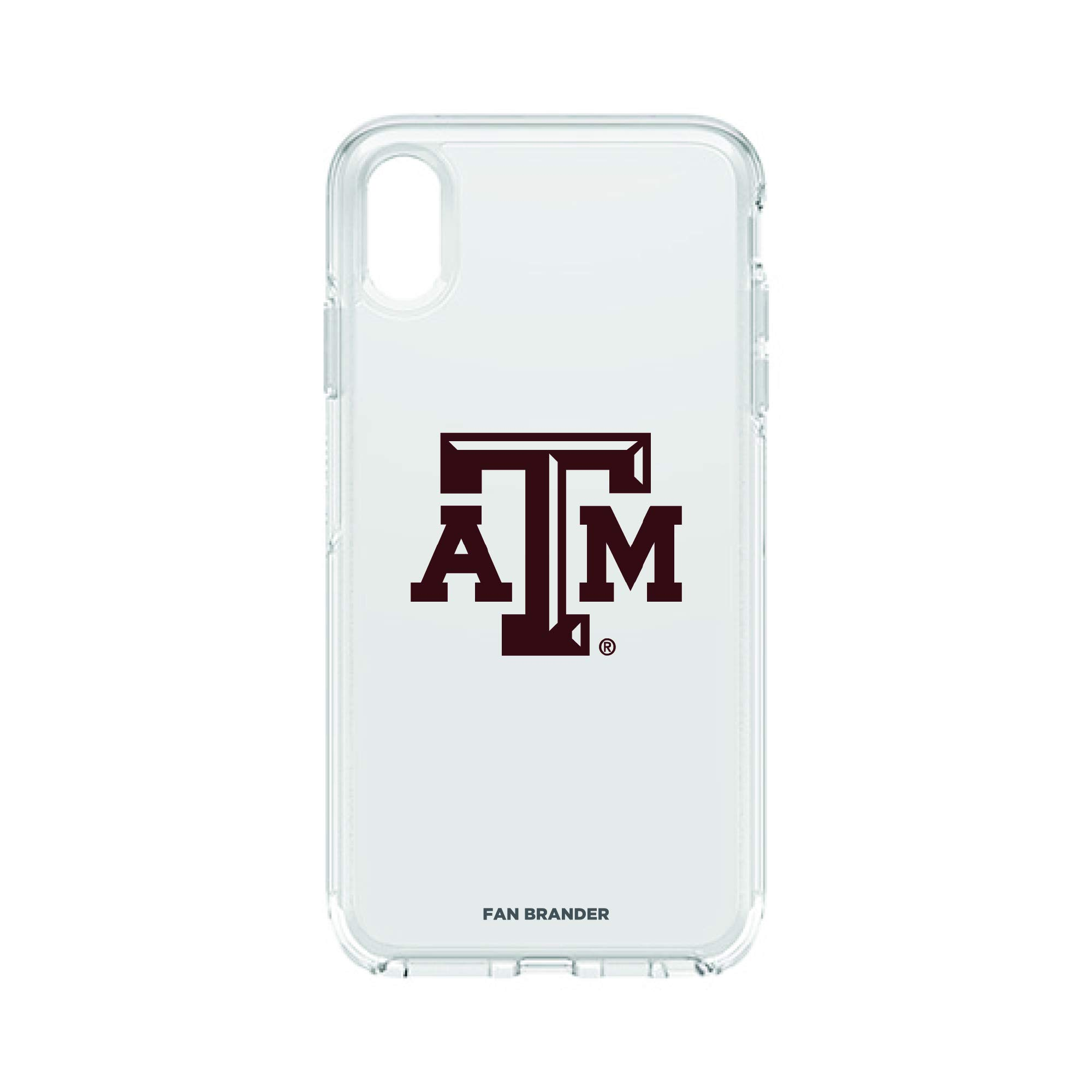 Fan Brander NCAA Clear Phone case Compatible with Apple iPhone Xs Max and with OtterBox Symmetry Series