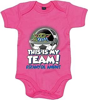 Azul Royal Body beb/é parodia baby Yoda mi equipo de f/útbol Aupa Numancia 6-12 meses