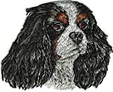 Sewing Embellishments & Finishes 2 1/4x2 3/4 Cavalier King Charles Spaniel Portrait Dog Breed Embroidery Patch (Great for Towels, Blankets, Pillows, Purses, Backpacks, Jackets)