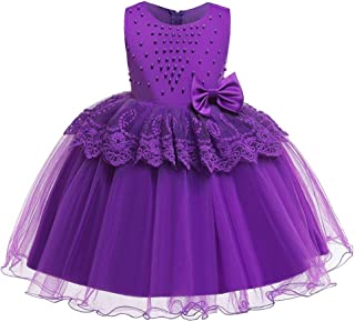 AGQT Girls Formal Dresses Lace Tulle Tutu Princess Pageant Dresses Kids Prom Ball Gowns for Girls 6M-8T