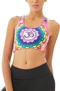 Era of Coloration Women's Sports Bras High Impact Workout Athletics Dry U-Neck for Yoga Bra