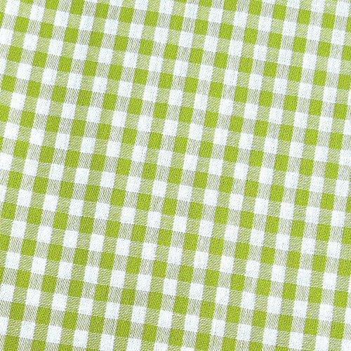 0,5m Vichy-Karo groß 5mm Stoff hellgrün/ weiß Meterware 100% Baumwolle