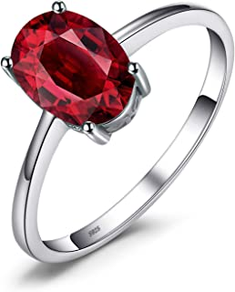 JewelryPalace Anillo Compromiso para Mujer Plata de ley 925