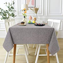 Anmon Rectangle Tablecloth, Waterproof Table Cloth Table Cover Cotton Linen Tablecloths Wrinkle Free Washable for Kitchen ...
