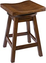 product image for Furniture Barn USA Swivel Urban Bar Stool in Quarter Sawn Oak Wood - Multiple Sizes and Colors!