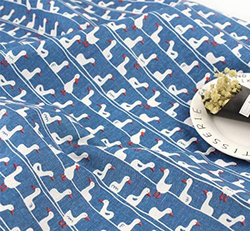 ONECHANCE Tela de algodón Mantel de tela Cubiertas de sofá Costura de material de bricolaje por metro 100x150cm Color Azul de pato Size 1 metro