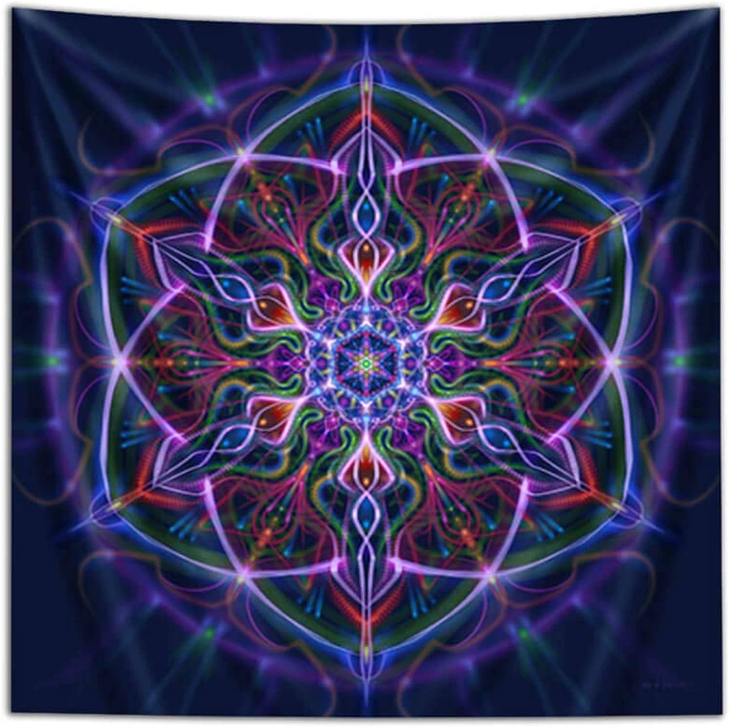"Third Eye Tapestries ""Caapi Seed"" Wall Tapestry by Simon Haiduk - Psychedelic Art Tapestry - Hanging Modern Art Tapestry (40x60)"