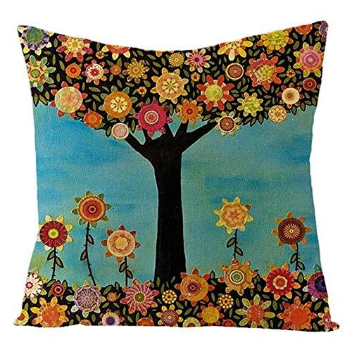 45 * 45 cm de piel de melocotón mágico colorido retro feliz ropa de la flor funda de almohada eBay sábanas de algodón amortiguador de la almohadilla (base de la almohadilla no incluido) ( Color : F )