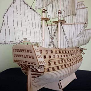 ACHICOO DIY Wood Assembled Victory Royal Navy Ship Sailboat Modeling Toy Decoration Kids Gifts
