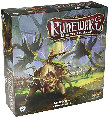 Fantasy Flight Games FFGRWM14 Latari Elf Army Expansion Runewars - Juego de miniaturas