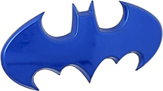 Fan Emblems Batman Car Badge, Blue Chrome Batwing Logo 3D Automotive Sticker Decal, Flexes to Fully Adhere to Most Smooth Surfaces - Vehicles, Laptops, Windows, Almost Anything