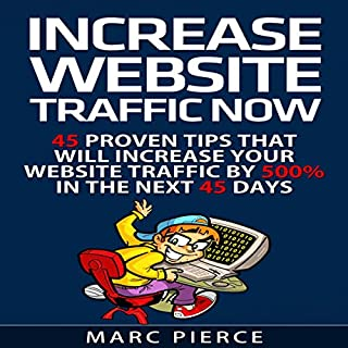 Increase Website Traffic Now! audiobook cover art