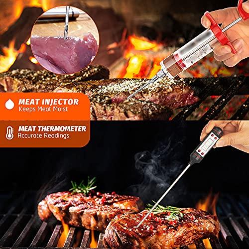 61D9nxzF98S. SL500  - EIGNO Grillzubehör, 27-teiliges Grillzubehör-Set, professionelles Edelstahl-Grill-Set mit Fleischthermometer und Injektor, perfektes Grillbesteck für alle Ihre Grillbedürfnisse