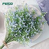 FEIGO Decoración de La Boda Gypsophila Artificial 5 Piezas de Flores Artificiales Hogar Decoración del Banquete de Boda Ramo (Azul)