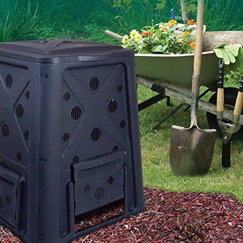 Best Buy! WC Redmon Compost Bin and Compost Turning Tool Combo Set