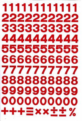 E176 nombre de lettres STICKER Autocollant feuille 27 x 18 cm
