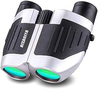 AIZANIYA 双眼鏡 コンサート 10倍 高倍率 オペラグラス 軽量 小型 10×25 観劇 バードウオッチング ピント調整機能付き (gray)