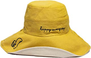 TIMWIL Women Wide Brim Cotton Bucket Hat Foldable Summer UV Protection Sun Hats Beach Caps