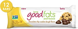 Love Good Fats Plant-Based Bars – Chocolate Chip Cookie Dough – Keto-Friendly Protein Bar with Natural Ingr...