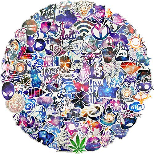 Galaxy Style Aufkleber, 100 Stück/Pack Aufkleber, verschiedene Vinyl, Auto-Aufkleber, Motorrad, Fahrrad, Gepäck, Graffiti Patches Skateboard Aufkleber für Laptop Aufkleber für Kinder und Erwachsene