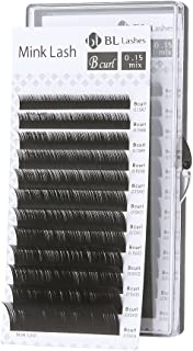 Eyelash Extension BL Signature Mink Lash B Curl 8 Sizes in 1 Mixed Tray (BX0.15mm)