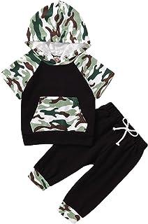 قمصان بقلنسوة بقلنسوة للأطفال الرضع الرضع والأطفال والأولاد + مجموعة ملابس طويلة 0-3Y