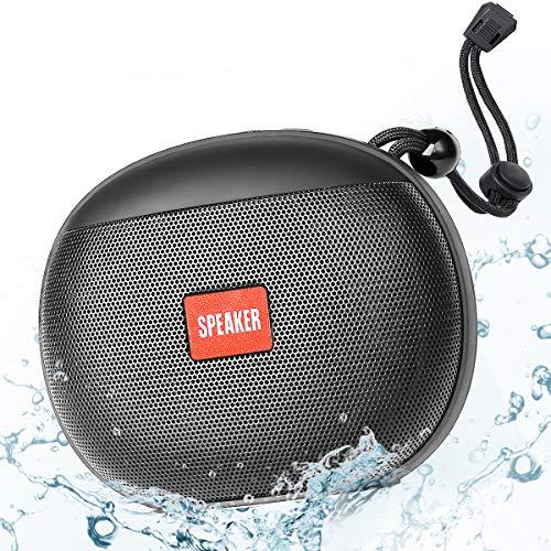 Cassa Bluetooth Waterproof, Altoparlante Bluetooth Portatili TWS HD Stereo, 12 Ore di Riproduzione 50ft Speaker Bluetooth 5.0 Wireless con Microfono Radio FM Supporto TF, USB, per iOS Android e Doccia