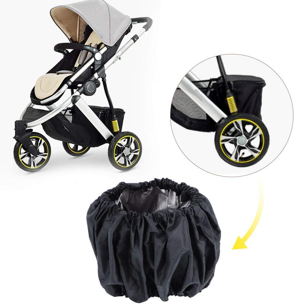 kompakt haltbare und ungiftige Kinderwagenradabdeckung f/ür Kinderwagenrad mit Klettverschluss fest abnehmbar Oumefar Hochwertige staubdichte Big Wheel