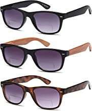 Gamma Ray Bifocal Sunglasses for Men and Women - 3 Pairs Sun Readers Sunglasses