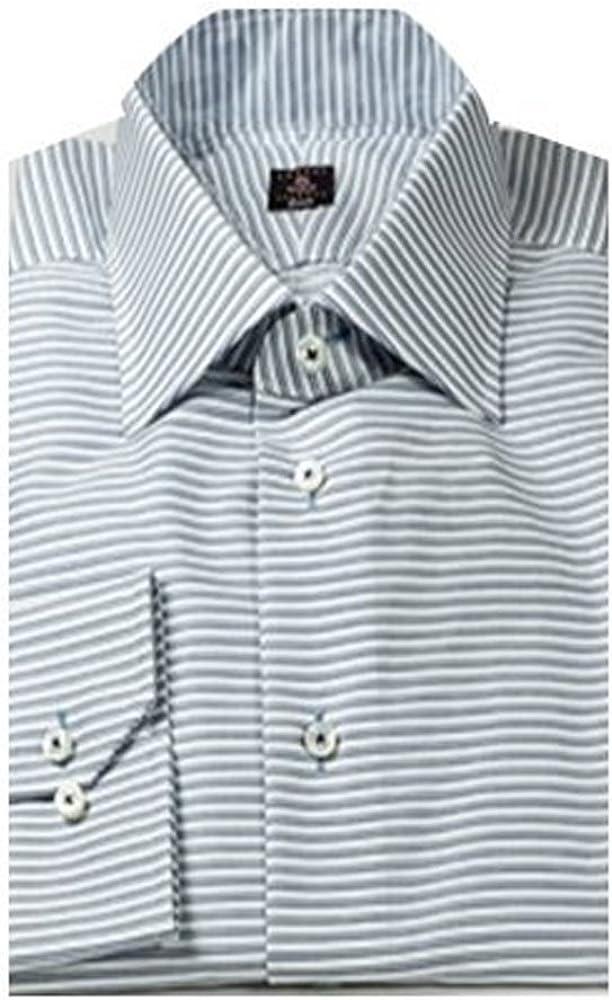 Robert Talbott Navy Blue Horizontal Stripe Estate Dress Shirt
