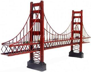 Mons Home Store Retro Metal Building Model Decoration Golden Gate Bridge Statue Cafe Decor