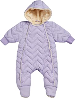 Urban Republic Newborn Baby Girls Sherpa Lined Pram Snowsuit