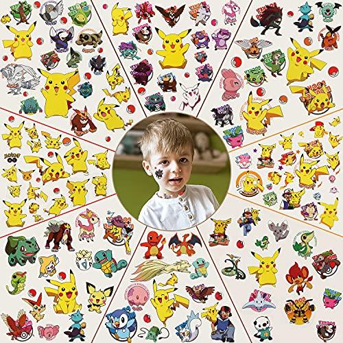 Tatouage Temporaires pour Enfant,Tatouages Éphémères , Anniversaire pour Garçons Filles Enfants Fournitures Scolaires,Cadeaux Autocollants pour Enfants, Accessoires de Fête(8 Sheets)