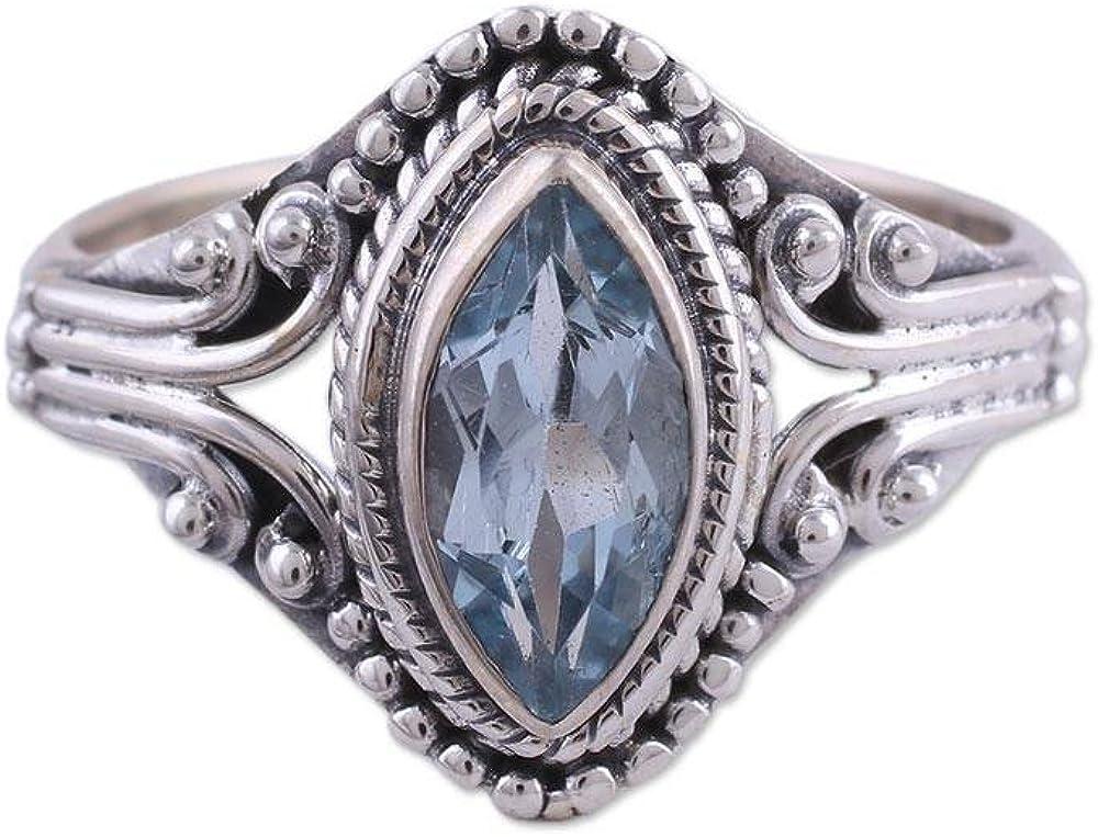 NOVICA Blue Topaz .925 Sterling Luxury' Morning 5 Sale SALE% OFF popular Silver Ring
