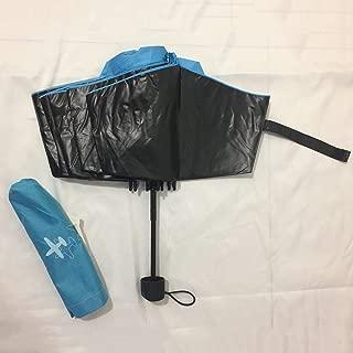 SWSM Anti-UV Folding Travel Parasol Sun Shade Umbrella Folding Sun Rain Umbrella 99% UV Protection Parasol with Anti-UV Coating