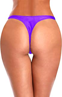 Womens T-Back Thong G-String Swimwear Sexy Brazilian Bikini Bottom Swimsuit