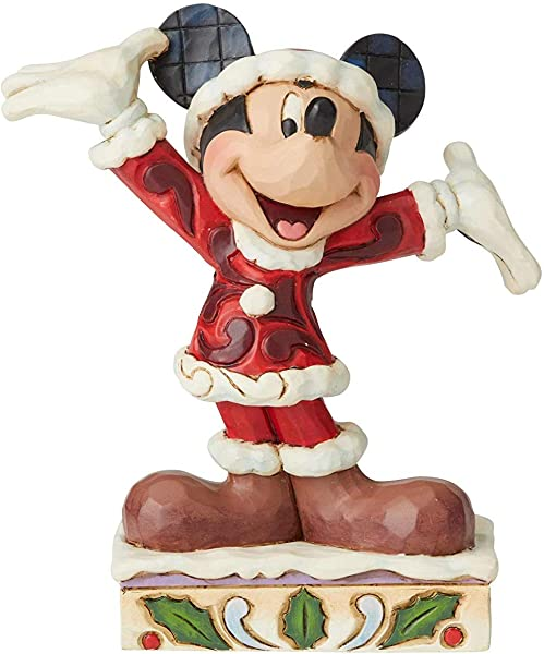 Disney Tradition By Jim Jore Christmas Mickey Resin Multi Colour One Size
