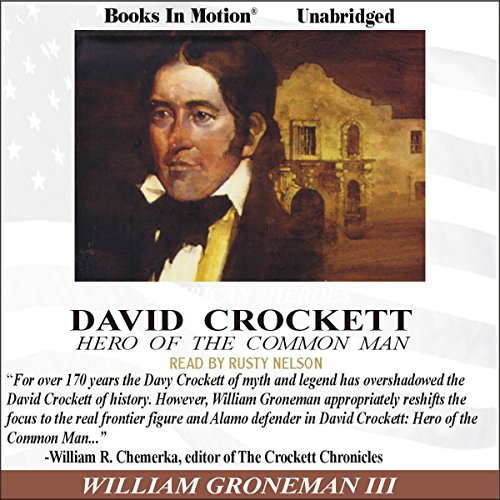David Crockett audiobook cover art
