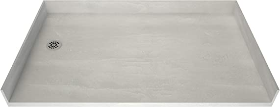 """Tile Redi 3260LBF-PVC Free Shower Pan, 60"""" W x 32"""" D, Polished Chrome"""