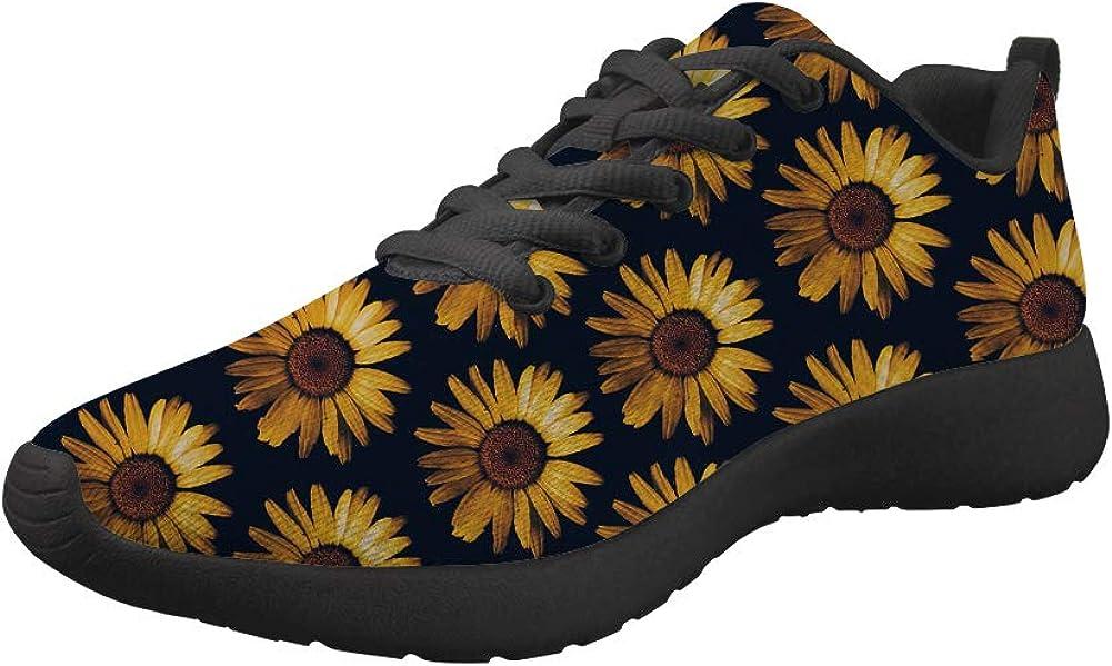 JEOCODY Women Mens Lace-up Sneakers Workout Running Walking Spor