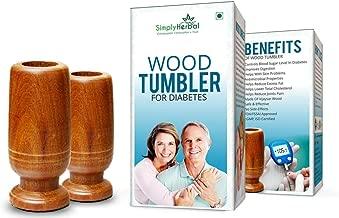 Simplyherbal Wood Tumbler for Diabetes