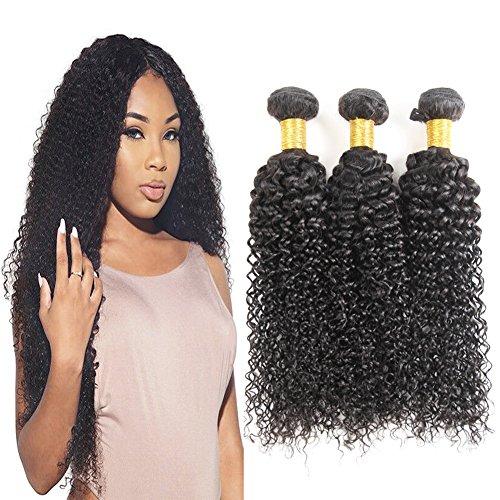 Extensions de cheveux bouclés Cheveux humains brésiliens vierges Tissage bouclé Prime 100g/pc soyeux Cheveux brésiliens pour le tissage 14 16 18 Pouces