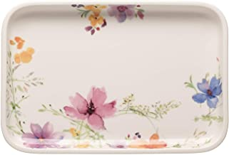 Villeroy & Boch Mariefluer Basic Baking Dishes Rectangular Serving Plate/Lid, 12.5 x 8.5 in, White/Colorful