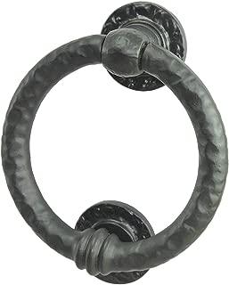 Mythrojan Pewter Ring Head Door Knocker Iron Matte Rust Resistant Finish