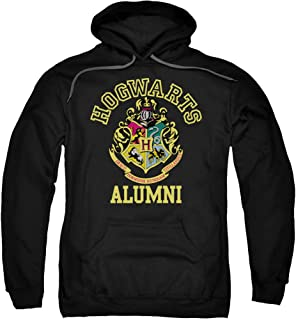 Trevco Harry Potter Hogwarts Alumni Adult Pull Over Hoodie Black