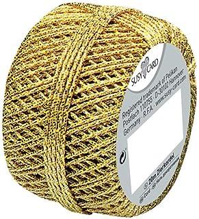 bäckergarn gold Susy Card 11103991 Weihnachts-Cordonnet Knäuel, 1 Stück, eingeschweißt, 20 m, gold