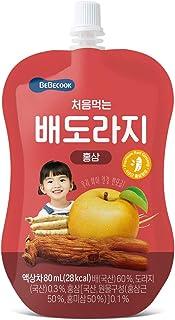 BeBecook Brewed Korean Golden Pear Drink w Bellflower Root & Red Ginseng, 80 ml