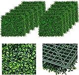 uyoyous 12 plantas artificiales para pared con protección UV, 60 x 40 cm, color verde oscuro