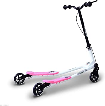 HOMCOM Patinete Scooter de 3 Ruedas Plegable Scooter de ...